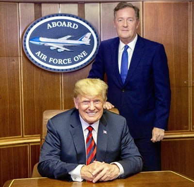 Piers Morgan and Donald Trump