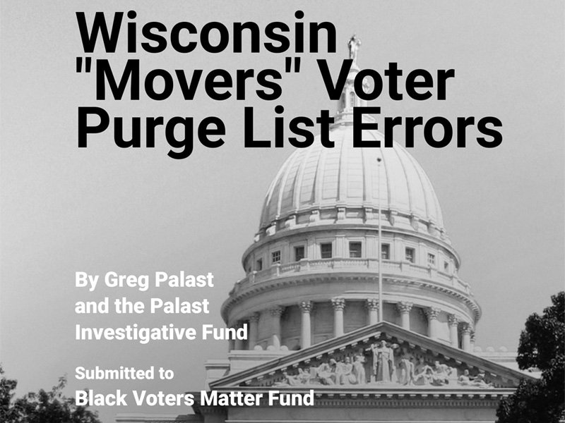 "Report: Wisconsin ""Movers"" Voter Purge List Errors"