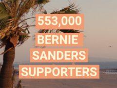 553,000 Bernie Sanders supporters